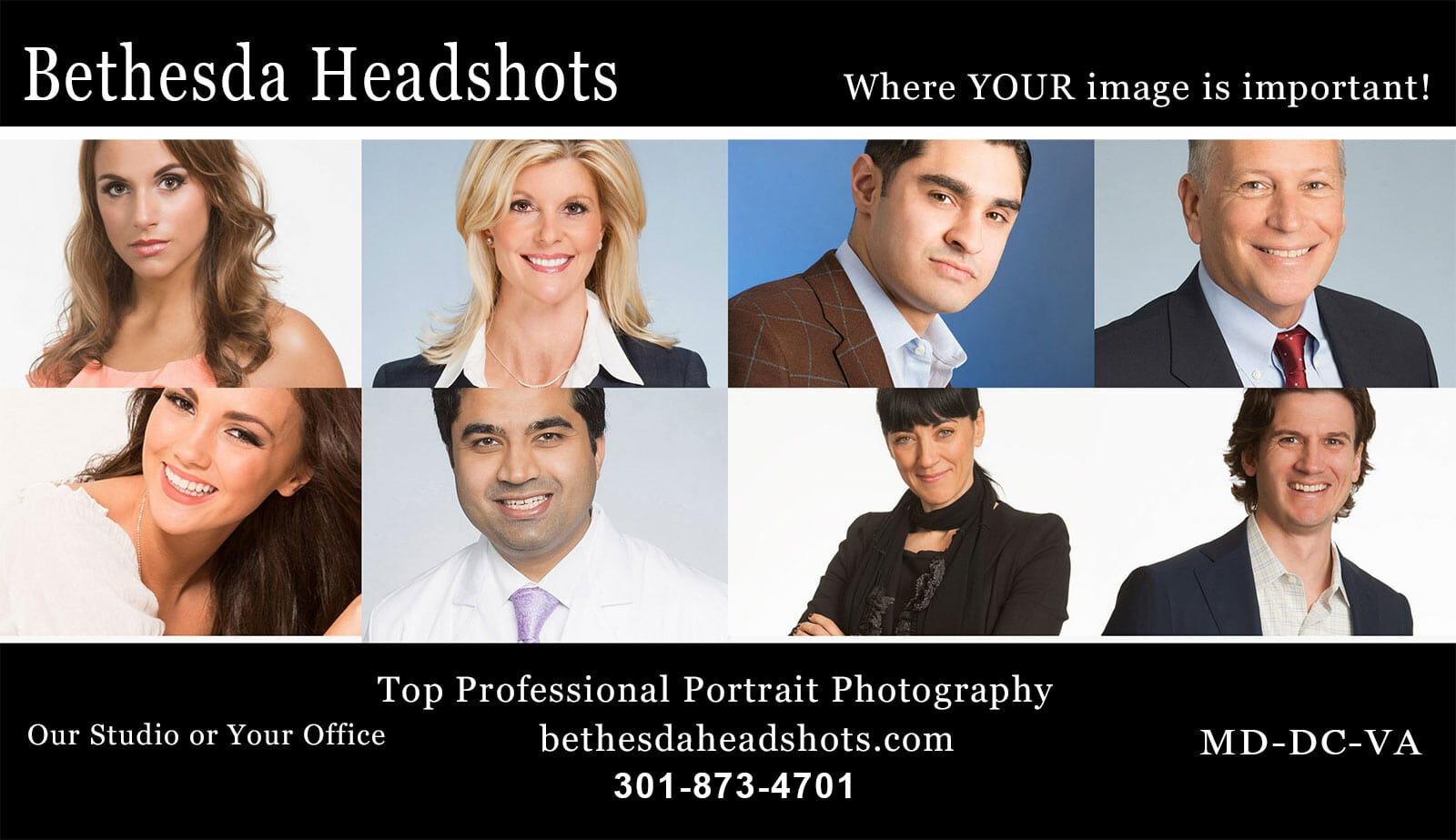 Creating amazing LinkedIn Profile Portraits - one image at a time! BethesdaHeadshots.com Our Studio or Your Office MD-DC-VA 301-873-4701