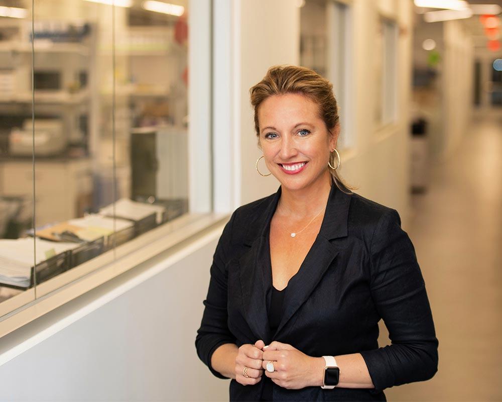 executive business female headshot on location