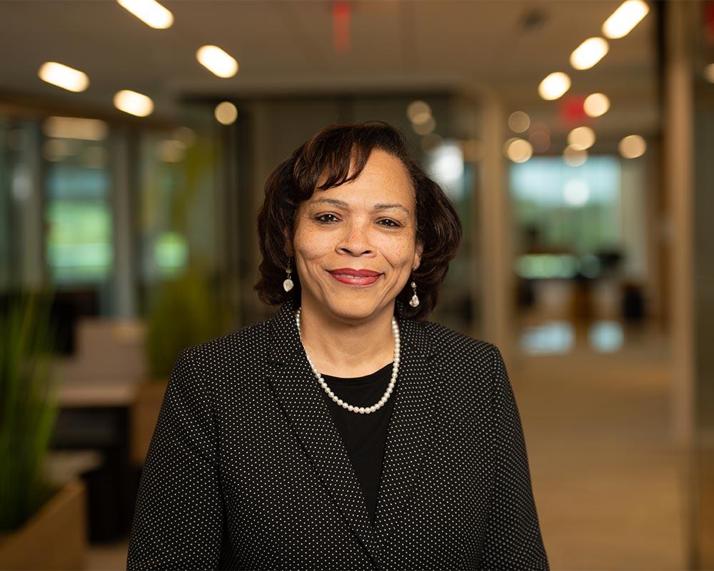 executive business black female headshot on location